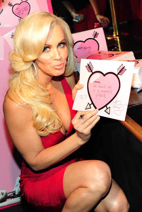 Jenny McCarthy appears at SVEDKA Vodka's Anti-Valentine's Day Bash at AGENCY Boutique Nightclub in Los Angeles on Jan. 31, 2012.