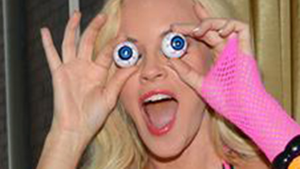 Jenny McCarthy gets ready for SVEDKA&#39;s Halloween Bash in New York on Oct. 24, 2013. <span class=meta>(Michael Simon &#47; Startraksphoto.com)</span>