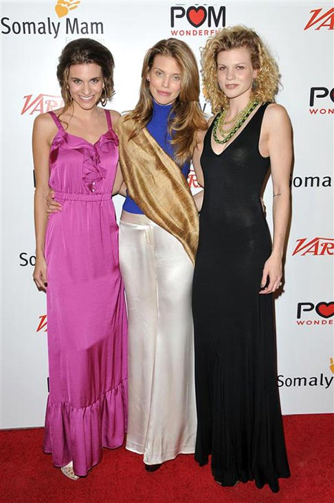 AnnaLynne McCord appears with sisters Angel McCord &#40;right&#41; and Rachel McCord &#40;left&#41; at the Life is Love event, which she hosted, in Los Angeles on Sept. 22, 2012. <span class=meta>(Tony DiMaio &#47; Startraksphoto.com)</span>