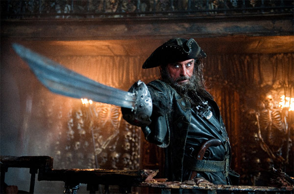 Blackbeard, played by Ian McShane, in 'Pirates...