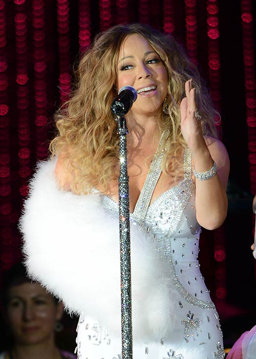 "<div class=""meta ""><span class=""caption-text "">Mariah Carey, wearing a fancy sling, performs with the New York Philharmonic at the 2013 MLB All-Star Charity Concert, benefiting Hurricane Sandy relief efforts, in New York City's Central Park on July 13, 2013. She had recently suffered a shoulder injury during a music video shoot and had told her Twitter followers she would wear 'fashionable slings' for the next two weeks. (Humberto Carreno / startraksphoto.com)</span></div>"