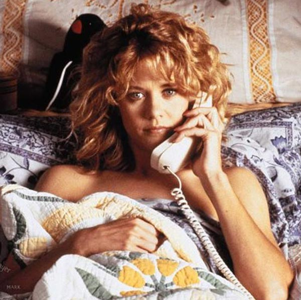 Meg Ryan appears in a scene from the 1989 film 'When Harry Met Sally.'