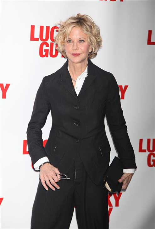 "<div class=""meta ""><span class=""caption-text "">Meg Ryan appears at the Broadway premiere of 'Lucky Guy,' starring her 'You've Got Mail' co-star Tom Hanks, in New York City on April 1, 2013.  (Adam Nemser / startraksphoto.com)</span></div>"