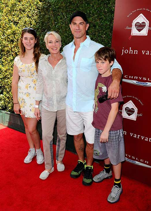 Christopher Meloni &#40;&#39;Surviving Jack,&#39; formerly &#39;Law and Order: SVU,&#39; &#39;Oz&#39;&#41; appears with his family at John Varvatos&#39; 11th annual Stuart House Benefit in West Hollywood, California on April 13, 2014. <span class=meta>(Daniel Robertson &#47; Startraksphoto.com)</span>