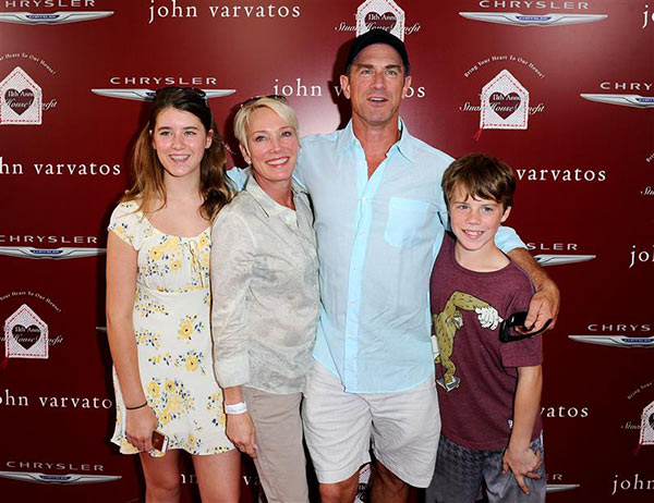 "<div class=""meta ""><span class=""caption-text "">Christopher Meloni ('Surviving Jack,' formerly 'Law and Order: SVU,' 'Oz') appears with his family at John Varvatos' 11th annual Stuart House Benefit in West Hollywood, California on April 13, 2014. (Daniel Robertson / Startraksphoto.com)</span></div>"