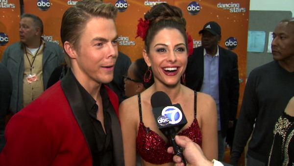 Maria Menounos and Derek Hough talk to...