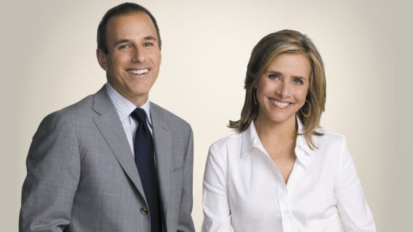 Meredith Vieira appears in a photo alongside co-host Matt Lauer from the television show 'Today.'