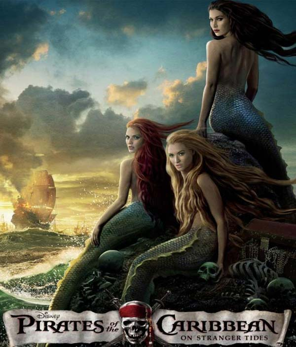 Mermaids on a poster for 'Pirates of the...