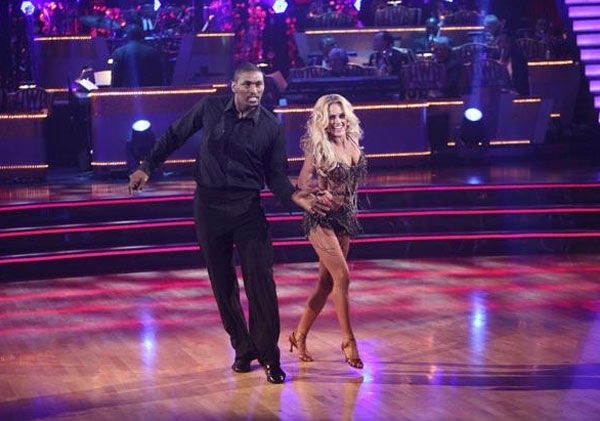 Metta World Peace, formerly known as Ron Artest, returned to the ballroom for a final performance on 'Dancing With The Stars: The Results Show,' on Tuesday, November 22, 2011. He appears here with show partner Peta Murgatroyd.