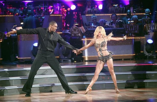 Metta World Peace, formerly known as Ron Artest, returned to the ballroom for a final performance on &#39;Dancing With The Stars: The Results Show,&#39; on Tuesday, November 22, 2011. He appears here with show partner Peta Murgatroyd. <span class=meta>(ABC &#47; Adam Taylor)</span>