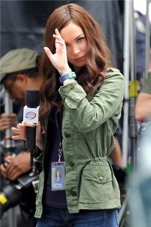 Megan Fox films the 2014 movie 'Teenage Mut
