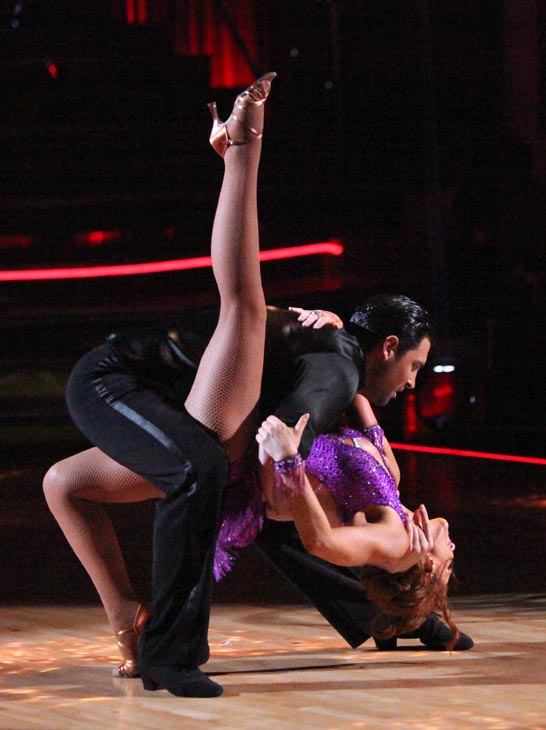 "<div class=""meta ""><span class=""caption-text "">Melissa Gilbert, a former child star who played Laura on 'Little House on the Prairie,' and her partner Maksim Chmerkovskiy received 24 out of 30 points from the judges for their Jive on week three of 'Dancing With The Stars,' which aired on April 2, 2012. (ABC Photo)</span></div>"