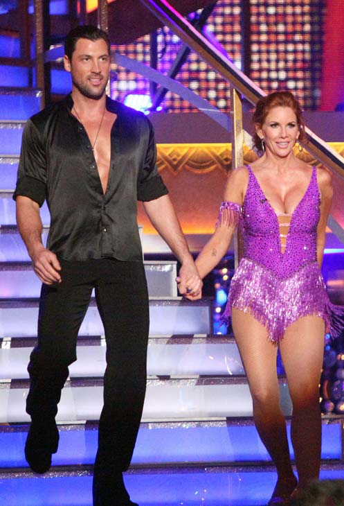 Melissa Gilbert, a former child star who played Laura on &#39;Little House on the Prairie,&#39; and her partner Maksim Chmerkovskiy received 24 out of 30 points from the judges for their Jive on week three of &#39;Dancing With The Stars,&#39; which aired on April 2, 2012. <span class=meta>(ABC Photo)</span>