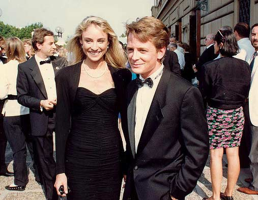 "<div class=""meta ""><span class=""caption-text "">Michael J. Fox appears in a photo from the 40th Emmy Awards in August 1988 alongside his wife actress Tracy Pollan. (flickr.com/photos/alan-light/)</span></div>"