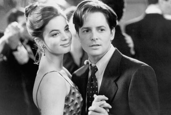 Michael J. Fox appears in a scene from the 1994 film 'For Love or Money.'