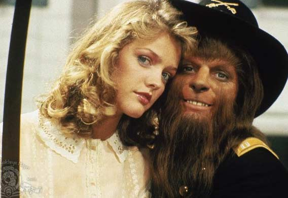 Actor Michael J. Fox appears in a photo with Lorie Griffin from the 1985 film &#39;Teen Wolf,&#39; where he played a high school student who discovered he was a wolf. <span class=meta>(Metro-Goldwyn-Mayer Studios Inc.)</span>
