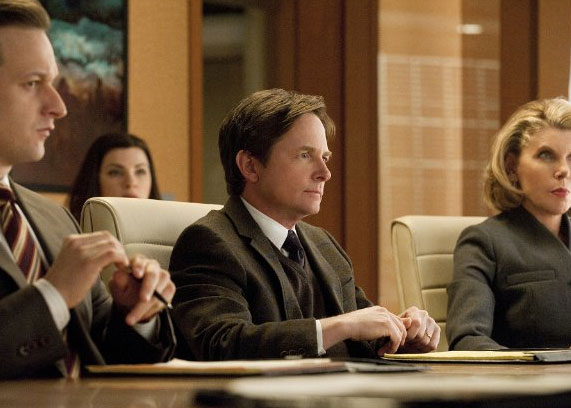 Michael J. Fox appears in a scene from 'The Good Wife.'