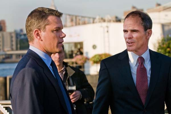 Michael Kelly turns 43 on May 22, 2012. The actor is known for shows such as &#39;Criminal Minds: Suspect Behavior&#39; and &#39;The Sopranos&#39; and movies such as &#39;Fair Game,&#39; &#39;Changeling,&#39; &#39;Dawn of the Dead&#39; and &#39;Unbreakable.&#39; &#40;Pictured: At left, Matt Damon and at right, Michael Kelly in a scene from the 2011 film, &#39;The Adjustment Bureau.&#39;&#41; <span class=meta>(Universal Studios - Andrew Schwartz)</span>