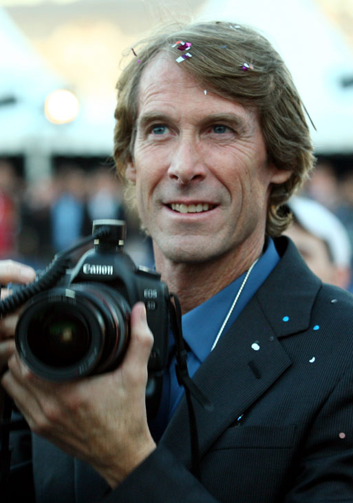 Director Michael Bay attends a 'Transformers 3: Dark of the Moon' event, which included a Linkin Park concert, in Moscow, Russia on June 23, 2011.