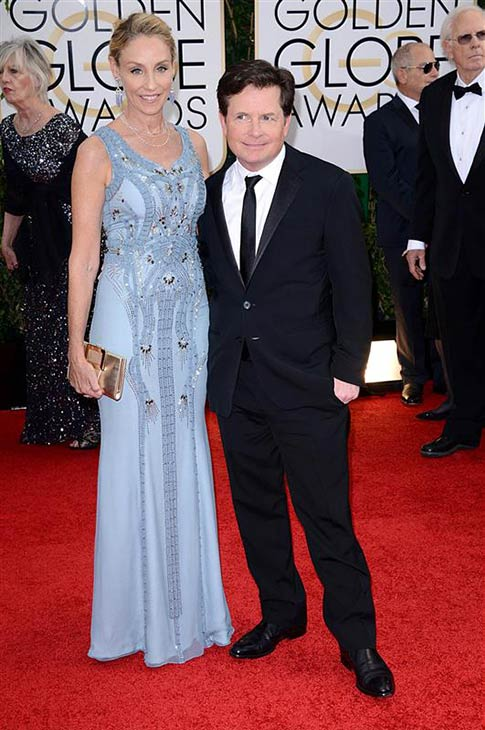 Michael J. Fox and wife Tracy Pollan appear at the 2014 Golden Globe Awards in Beverly Hills, California on Jan. 12, 2014. <span class=meta>(Lionel Hahn &#47; AbacaUSA &#47; Startraksphoto.com)</span>