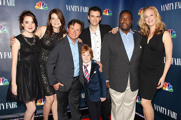"<div class=""meta image-caption""><div class=""origin-logo origin-image ""><span></span></div><span class=""caption-text"">Michael J. Fox appears with the cast of 'The Michael J. Fox Show,' which airs on NBC, at the network's and Vanity Fair's party celebrating the show at The Standard hotel in New York on Sept. 16, 2013. (Kristina Bumphrey / Startraksphoto.com)</span></div>"