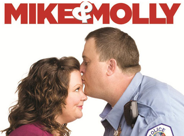 Still image of Melissa McCarthy and Billy Gardell from the show 'Mike and Molly.'