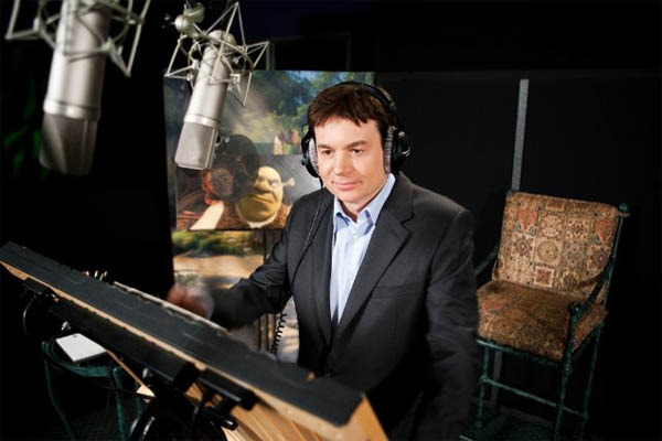 Mike Myers in the studio for 'Shrek Forever...