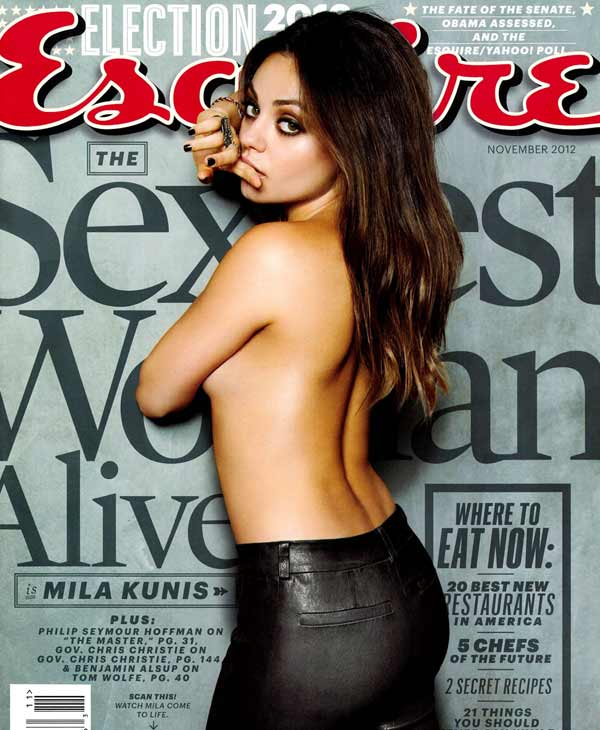Mila Kunis appears on the November 2012 cover of Esquire magazine. - Provided courtesy of Esquire