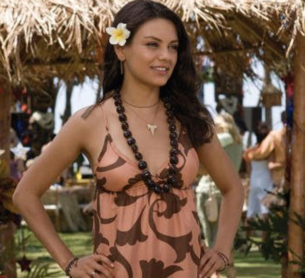 Mila Kunis appears in a scene from the 2008 film 'Forgetting Sarah Marshall.'
