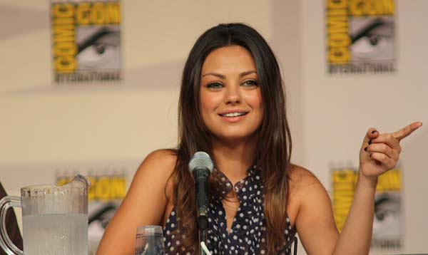 Mila Kunis appears in a photo from 2009 Comic Con in San Diego, Ca.