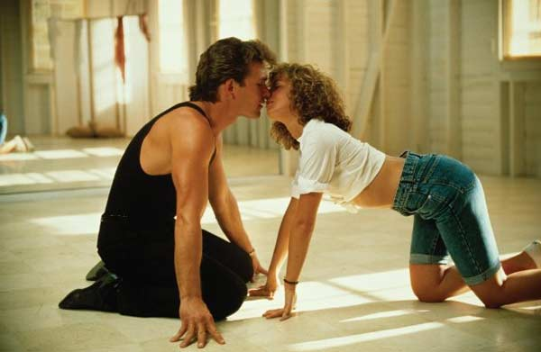 Jennifer Grey and Patrick Swayze appear in a photo from the 1987 film 'Dirty Dancing.'