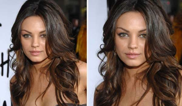 Mila Kunis appears in a photo from the premiere...