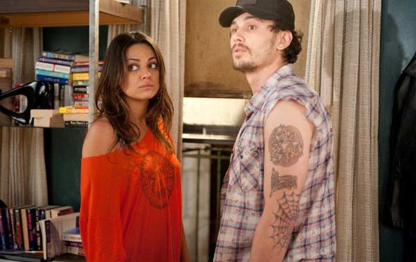 Mila Kunis appears alongside James Franco in a scene from the 2010 film 'Date Night.'