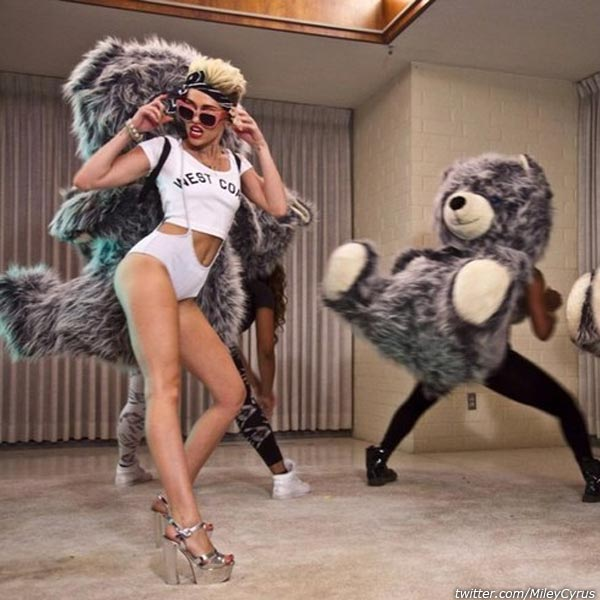 Miley Cyrus appears in an undated photo from her official Twitter account. - Provided courtesy of twitter.com/mileycyrus