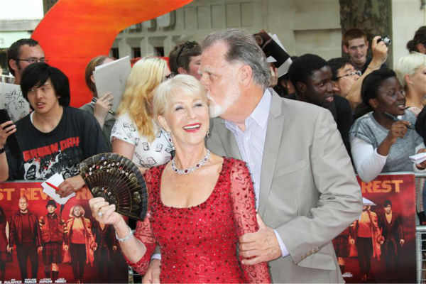 The time Helen Mirren got a tender kiss from husband and producer Taylor Hackford at the premiere of &#39;Red 2&#39; in London on July 22, 2013. <span class=meta>(Black Sheep Press &#47; Startraksphoto.com)</span>
