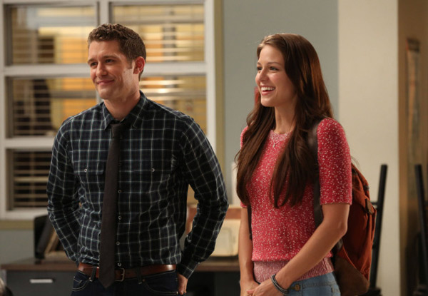 Will (Matthew Morrison) introduces Marley (Melissa Benoist) as a new member of the glee club in 'The New Rachel, the season 4 premiere episode of '