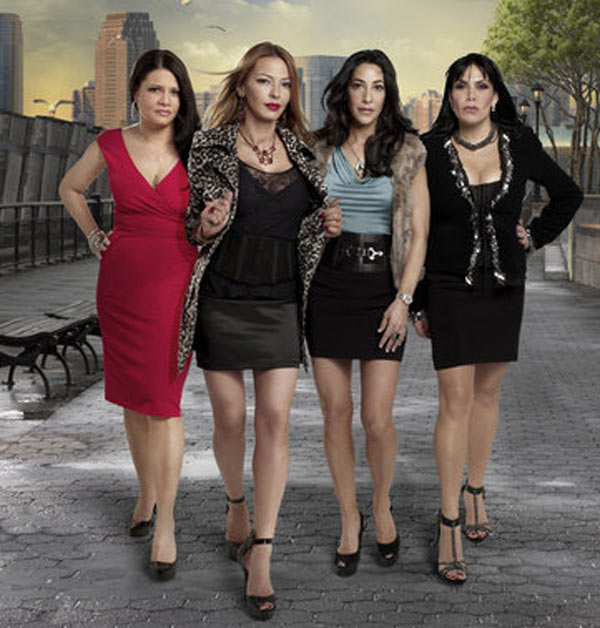 Still image of the cast from the show 'Mob Wives.'