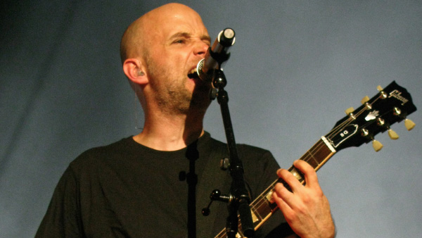 Moby appears in a photo from a performance in Montreal in 2009.