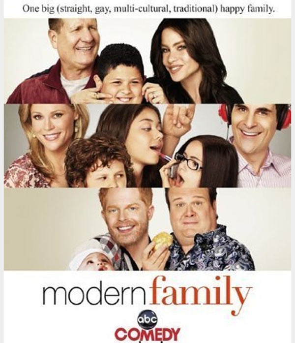 Still image of the cast from 'Modern Family.'