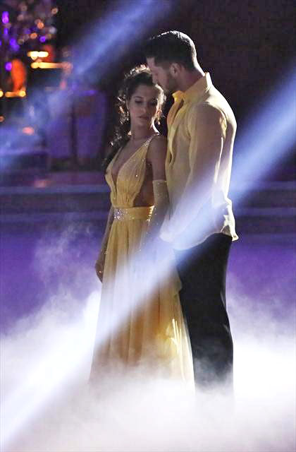 "<div class=""meta image-caption""><div class=""origin-logo origin-image ""><span></span></div><span class=""caption-text"">'General Hospital' actress Kelly Monaco and her partner Valentin Chmerkovskiy received 28 out of 30 points from the judges for  their Viennese Waltz on 'Dancing With The Stars: All-Stars,' which aired on November 12, 2012. (ABC / OTRC)</span></div>"