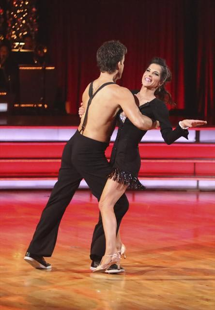 &#39;General Hospital&#39; actress Kelly Monaco and her partner Valentin Chmerkovskiy received 28 out of 30 points from the judges for  their Viennese Waltz on &#39;Dancing With The Stars: All-Stars,&#39; which aired on November 12, 2012. <span class=meta>(ABC &#47; OTRC)</span>