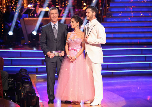 "<div class=""meta image-caption""><div class=""origin-logo origin-image ""><span></span></div><span class=""caption-text"">'General Hospital' actress Kelly Monaco and her partner Valentin Chmerkovskiy received 22 out of 30 points from the judges for their Quickstep on week two of 'Dancing With The Stars: All-Stars,' which aired on Oct. 1, 2012. (ABC / Adam Taylor)</span></div>"