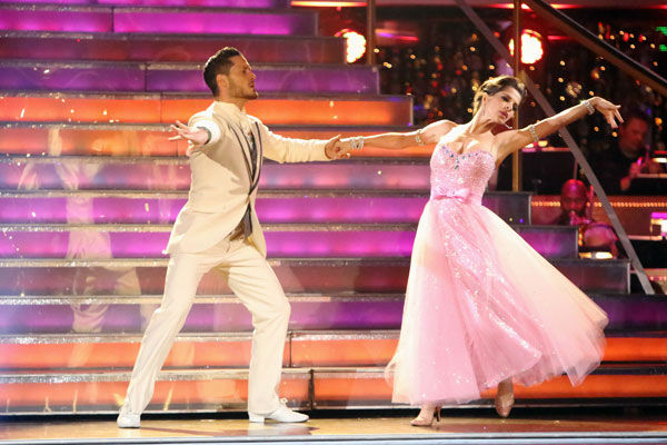 "<div class=""meta ""><span class=""caption-text "">'General Hospital' actress Kelly Monaco and her partner Valentin Chmerkovskiy received 22 out of 30 points from the judges for their Quickstep on week two of 'Dancing With The Stars: All-Stars,' which aired on Oct. 1, 2012. (ABC / Adam Taylor)</span></div>"