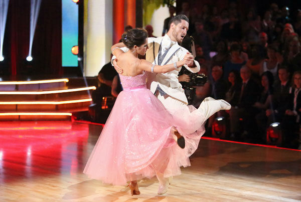 &#39;General Hospital&#39; actress Kelly Monaco and her partner Valentin Chmerkovskiy received 22 out of 30 points from the judges for their Quickstep on week two of &#39;Dancing With The Stars: All-Stars,&#39; which aired on Oct. 1, 2012. <span class=meta>(ABC &#47; Adam Taylor)</span>