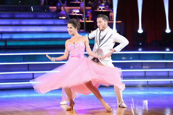 &#39;General Hospital&#39; actress Kelly Monaco and her partner Valentin Chmerkovskiy received 22 out of 30 points from the judges for their Quickstep on week two of &#39;Dancing With The Stars: All-Stars,&#39; which aired on Oct. 1, 2012. <span class=meta>(Photo&#47;Adam Taylor)</span>