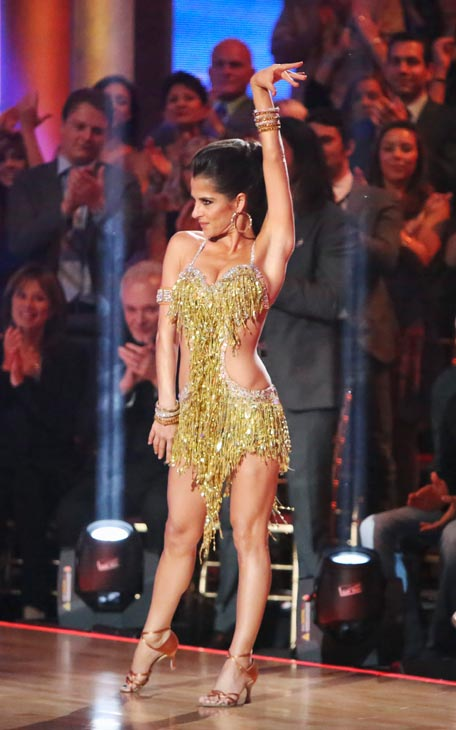 Kelly Monaco and Valentin Chmerkovskiy appear in a still from 'Dancing With The Stars: All-Stars' on September 24, 2012.