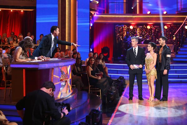 Kelly Monaco and Valentin Chmerkovskiy appear in a still from 'Dancing Wit