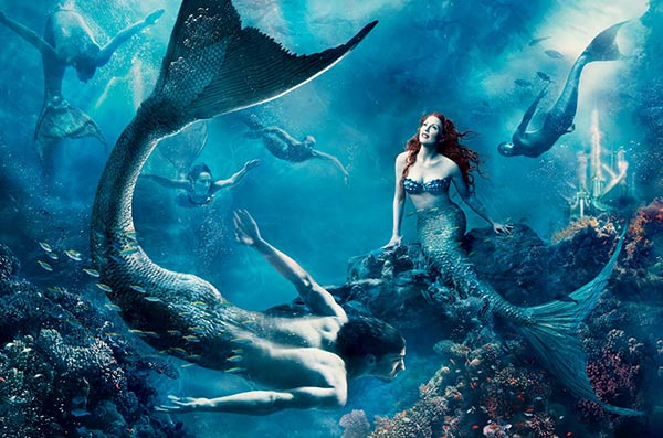 Julianne Moore plays Ariel, the Little Mermaid, in Annie Leibowitz's Disney Dream Dream Portraits series.