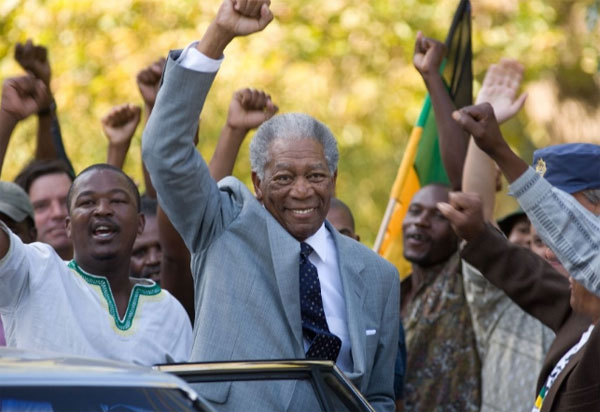 Morgan Freeman landed in the No. 4 spot in the &#39;Most Trusted Celebrity&#39; list. The actor had a 59 percent favorability rating, in a poll of 2,012 Americans released by Reuters&#47;Ipsos on August 17, 2011. &#40;Pictured: Morgan Freeman appears in a scene from the 2009 film &#39;Invictus.&#39;&#41; <span class=meta>(Warner Bros. Pictures)</span>