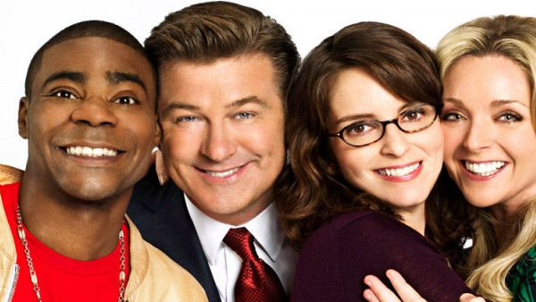 Tracy Morgan (far left) appears with his co-stars from the hit NBC show '30 Rock.'